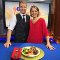 Andrea Holwegner, Calgary Dietitian, on CTV Morning Live speaking about portion sizes