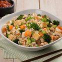 Tofu Vegetable and peanut stir fried rice
