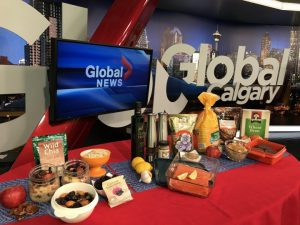 Global TV display of Menopause Superfoods