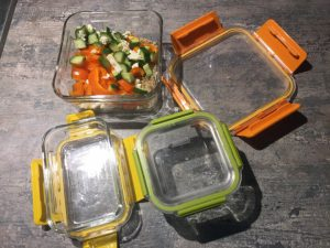 square glass containers