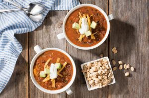 3 pepper and peanut beef chili recipe