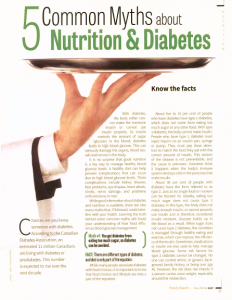 Family Health Magazine Diabetes Myths