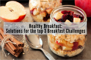 Mason Jar Oats Apples Cranberry Healthy Breakfast