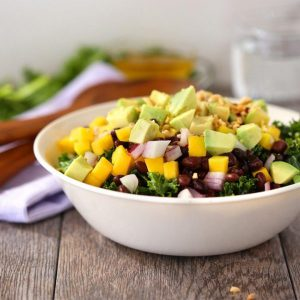 Avocado mango black bean salad
