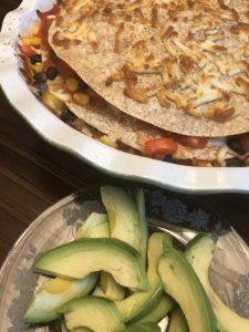 Black bean tortilla stack recipe