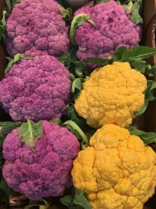 purple and orange cauliflower