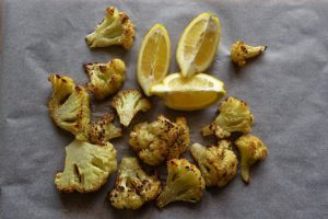 roasted cauliflower florest with lemon