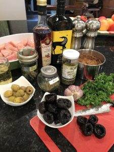 ingredients for chicken marbella