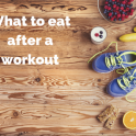 Sports nutrition advice on recovery food post workout