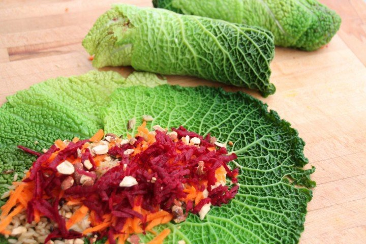 Savoy Cabbage Leaf Wraps Recipe