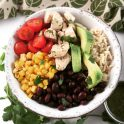 Chicken lime cilantro bowl