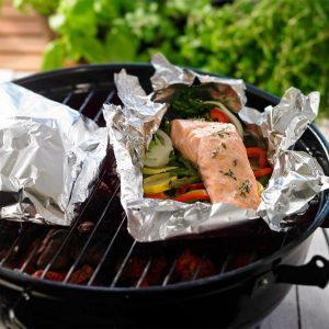 fast fish and herb packets