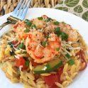easy shrimp orzo and zucchini recipe