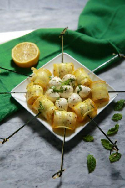 zucchini skewers