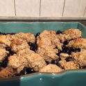 gluten free blueberry cobbler