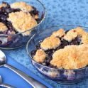 Heathy dessert: gluten-free blueberry cobbler recipe