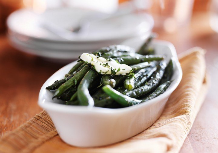 butter on green beans