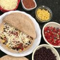 preparing mexican vegetarian pie