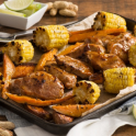 southern barbecue sheet pan dinner