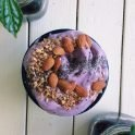 vegan blueberry smoothie bowl recipe