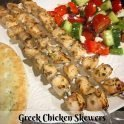 healthy recipe for Greek chicken skewers