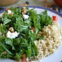 low FODMAP Recipe Kale and Blueberry Quinoa Bowl