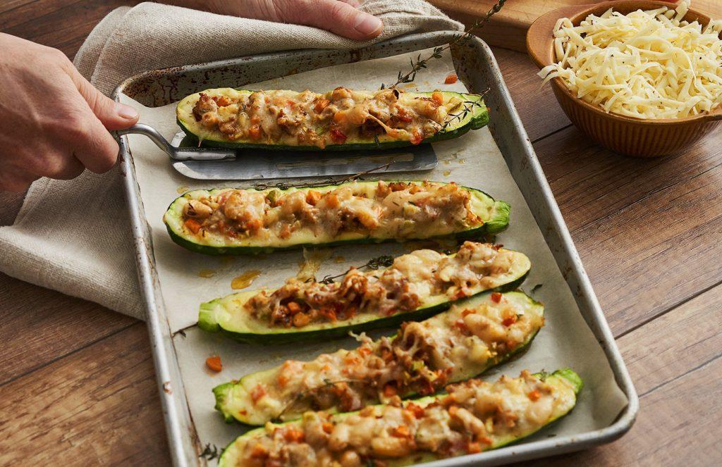 Healthy Recipe for Italian Zucchini Boats