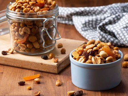 Dietitian approved roasted chickpea and peanut snack mix