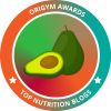 top nutrition blog badge from origym personal training courses for Andrea Holwegner and the Dietitians of Health Stand Nutrition