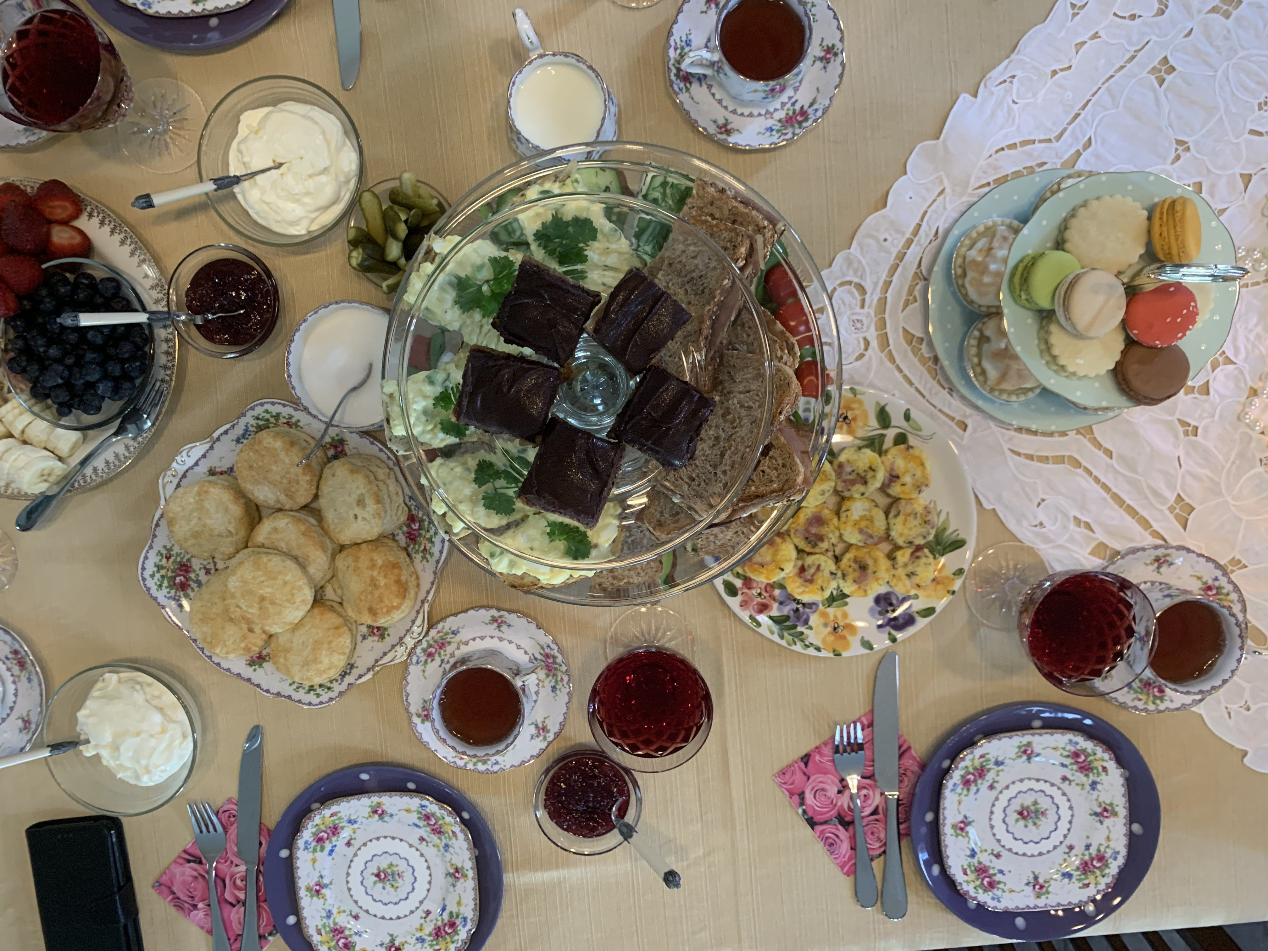 Dietitian Shauna Kime with high tea