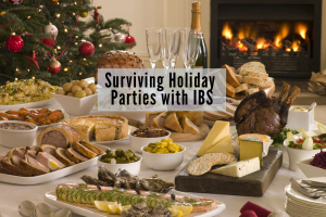 surviving holiday parties with IBS - dietitian tips for IBS sympoms