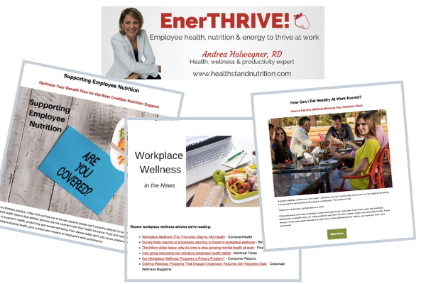 Workplace Wellness Newsletter Dietitian Tips For Employee Nutrition