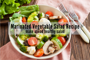mixed vegetable salad bowl