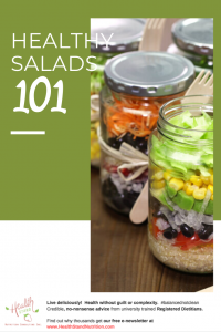layered salads in mason jar