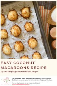 sheet pan of fresh coconut macaroon cookies