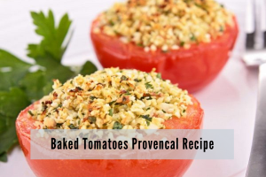 tomato halves topped with herbed breadcrumbs and broiled