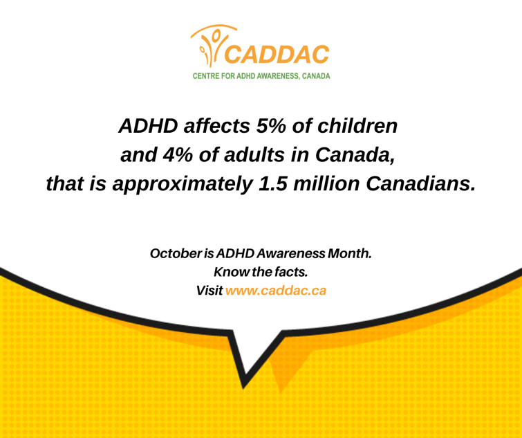 CADDAC Infographic of ADHD stats in canada