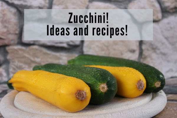 two green and two yellow zucchini