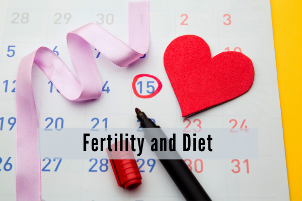 A fertility tracking calendar with the date friday the 15 circled in red