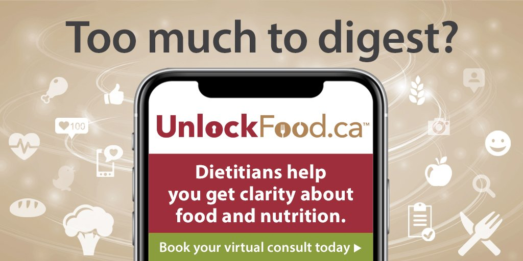 Too Much to Digest Dietitians of Canada Graphic