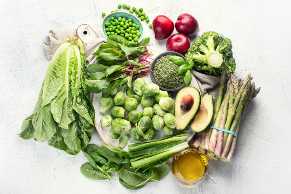 foods rich in vitamin k including avocado, potatoes, kale and asparagus