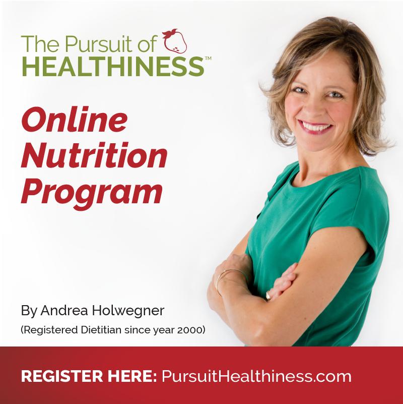pursuit of healthiness online dietitian program
