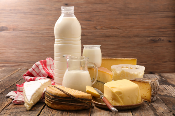 calcium rich foods including cheese, yogurt and milk