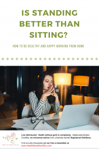 A pinterest sized image with text overlay of the blog title of a woman sitting at her desk working late at night at home