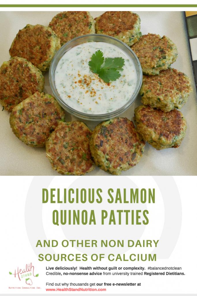 salmon quinoa patties pinterst image